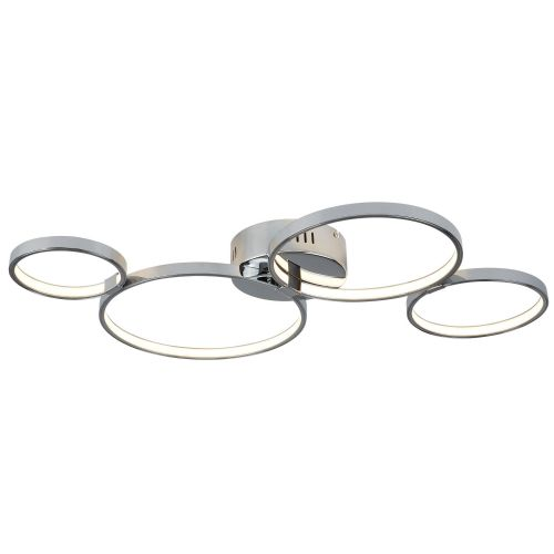 Solexa 4 Ring Led Ceiling Flush, Chrome (Double Insulated) Bx2004-4Cc-17
